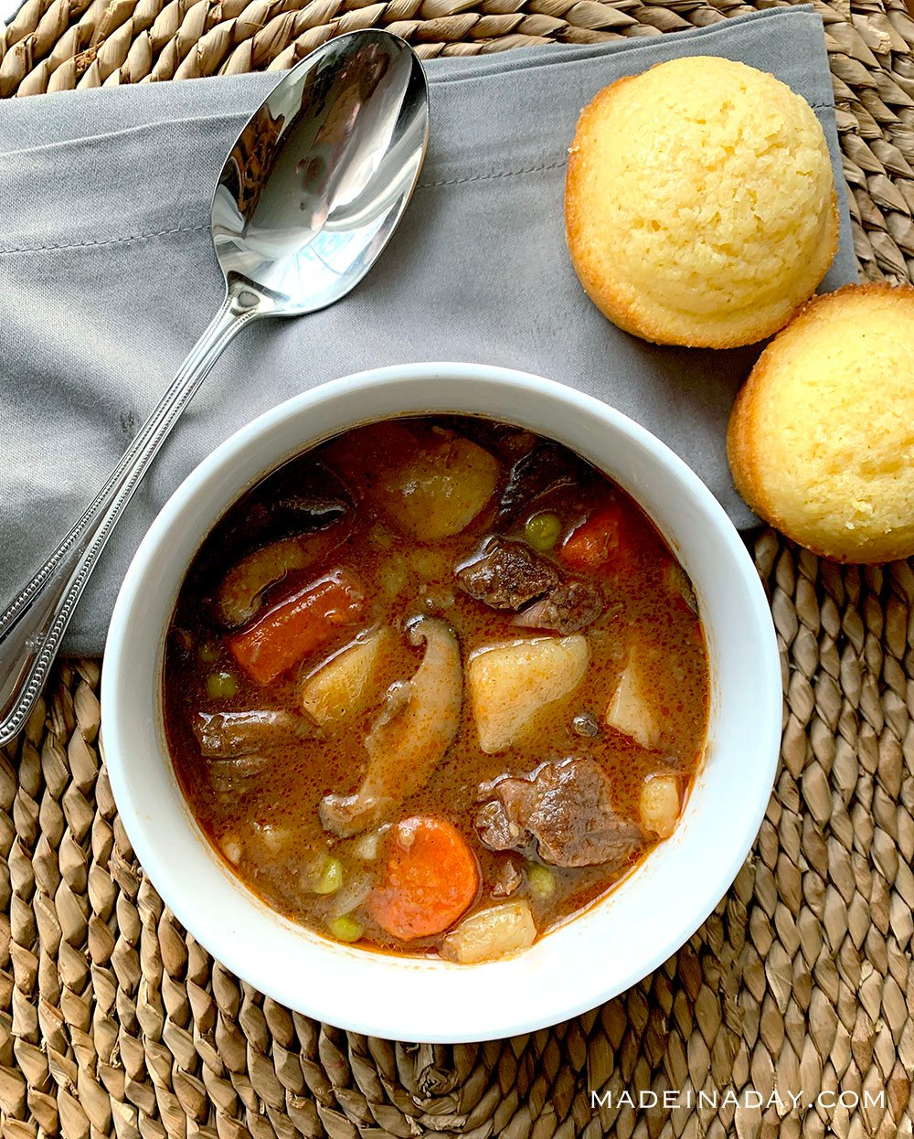 Rich & Hearty Pressure Cooker Beef Stew