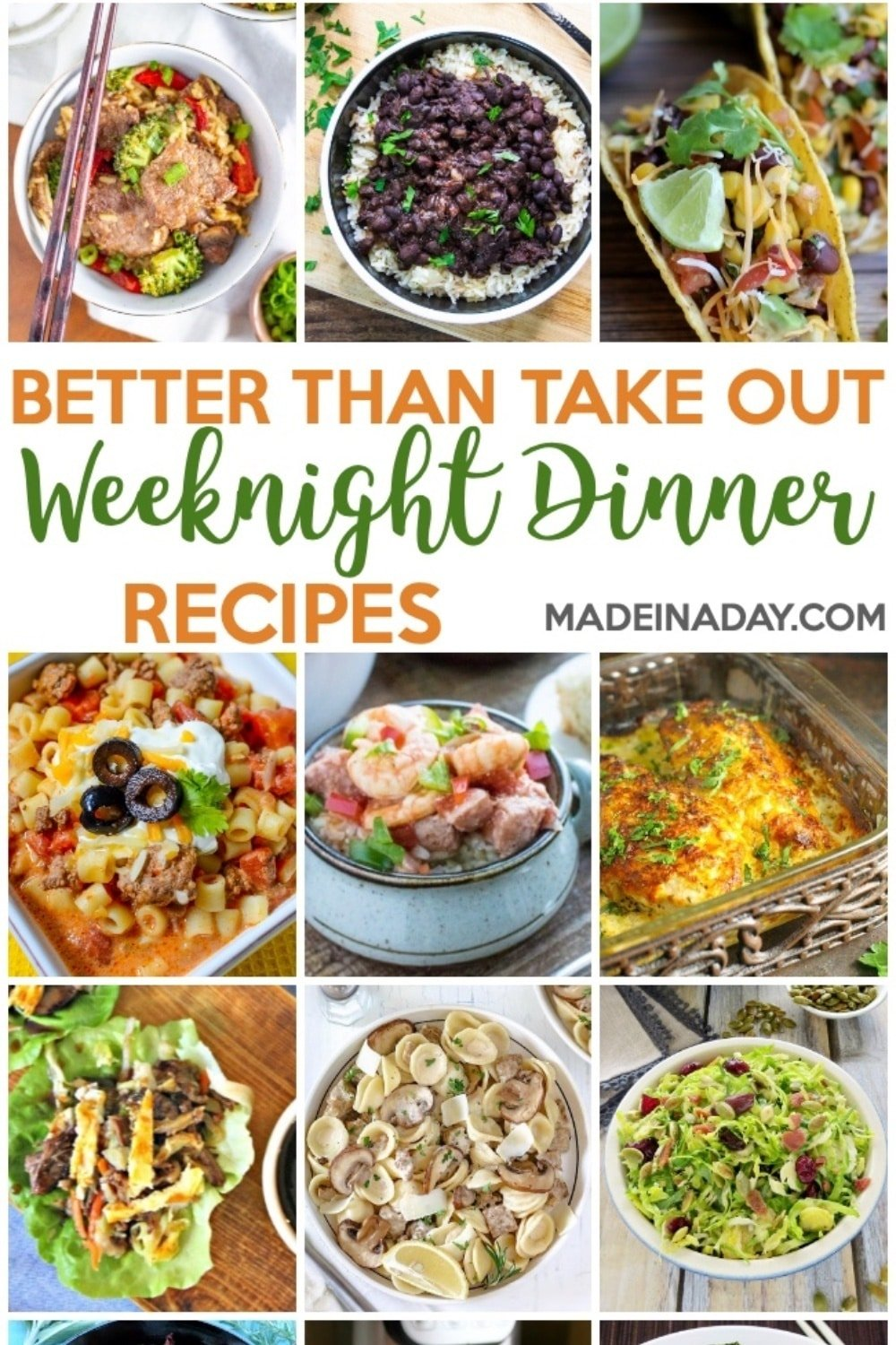 Better Than Takeout Weeknight Dinner Recipes
