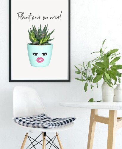 Inspiring Succulent Printable Wall Art: Plant One on Me! 31