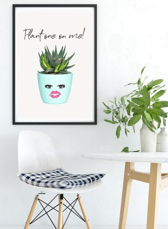 Inspiring Succulent Printable Wall Art: Plant One on Me! 6