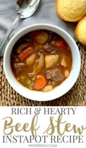 Rich & Hearty Pressure Cooker Beef Stew 1
