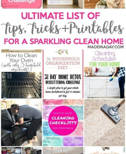Ultimate List of Tips & Printables for a Clean Home 30