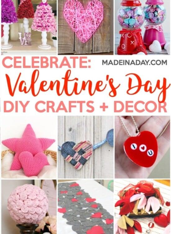 Super Cute Valentine's Day Crafts & Home Decor Ideas 3