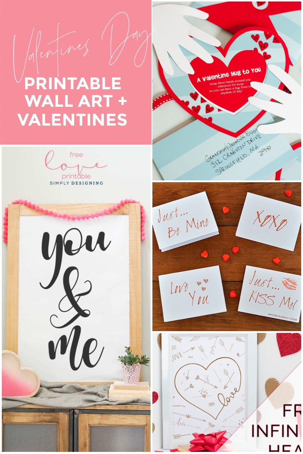 9 Adorable Valentines Day Wall Art Printables