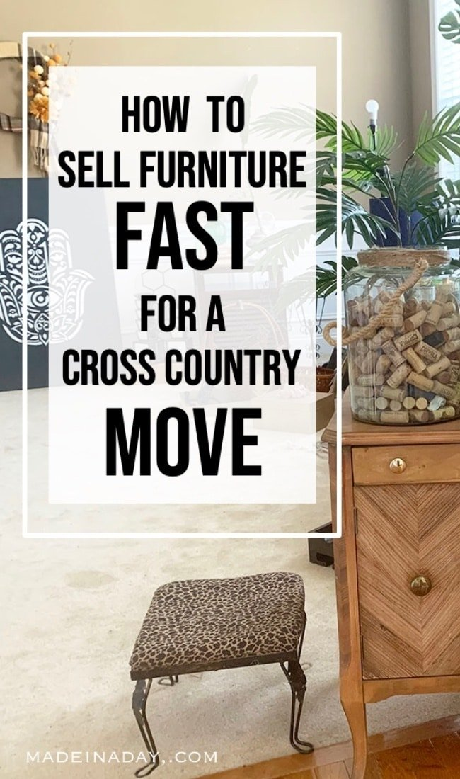 How to sell furniture fast when moving