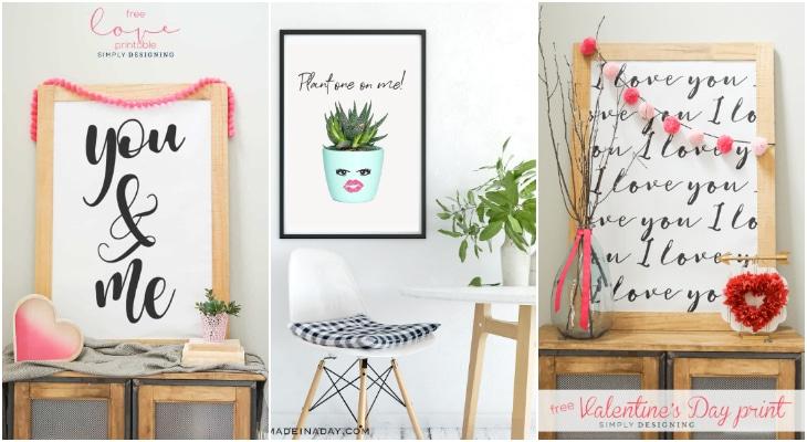 Large print Valentines, plant one on me