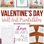 Simple Modern Valentines Day Card Printables 4