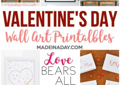 Adorable Valentines Day Wall Art Printables 15