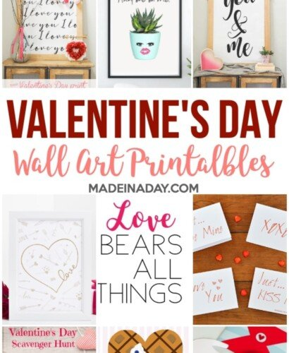Adorable Valentines Day Wall Art Printables 32