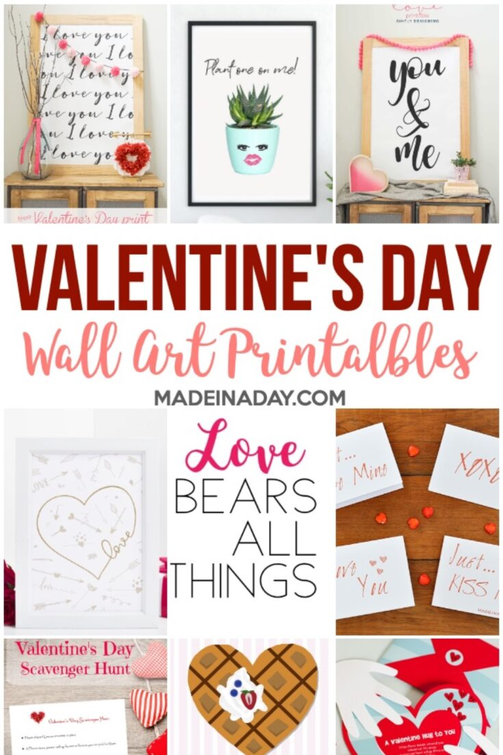 Super Cute Printable Valentines for Valentines Day 4