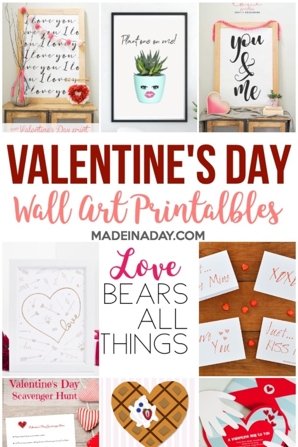 Valentines Day Wall Art Printables & More!