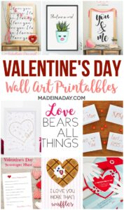 Adorable Valentines Day Wall Art Printables 1