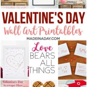 Adorable Valentines Day Wall Art Printables 29
