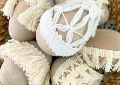 Simple Natural Tassel Easter Eggs 6