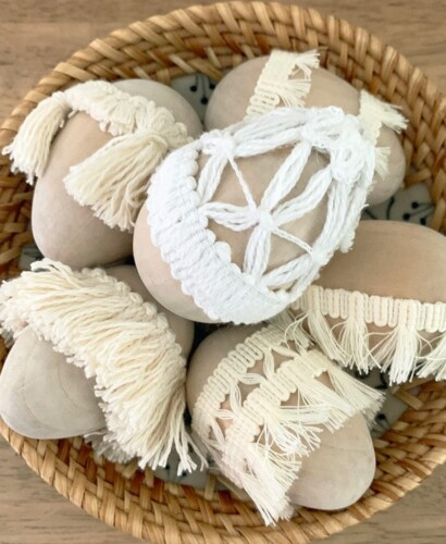 Simple Natural Tassel Easter Eggs 3
