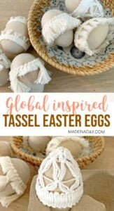 Simple Natural Tassel Easter Eggs 1