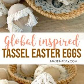Simple Natural Tassel Easter Eggs 29