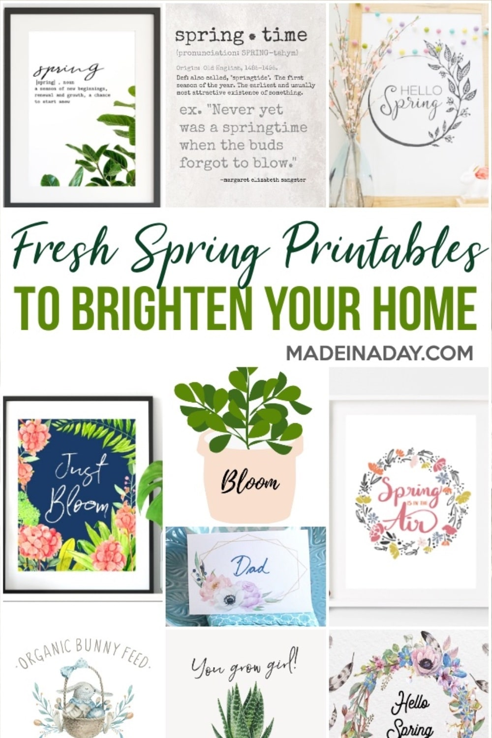 Spring Printables to Freshen up Your Home