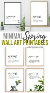 Fresh Minimal Spring Wall Art Printables 1