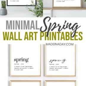 Fresh Minimal Spring Wall Art Printables 31