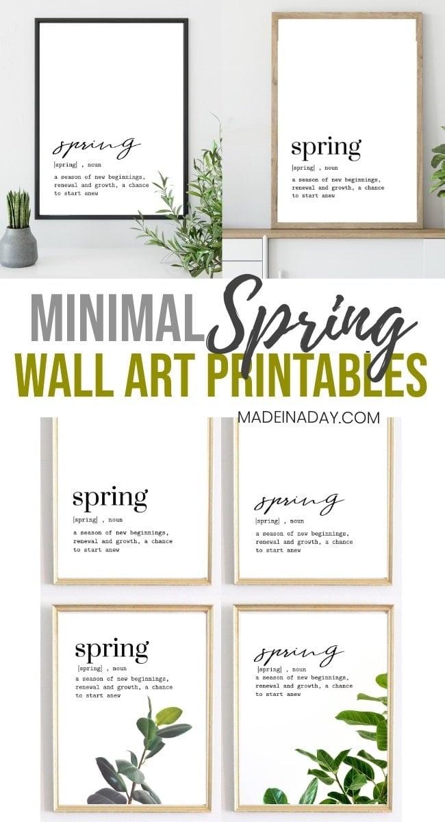 Minimal Sprin Printables