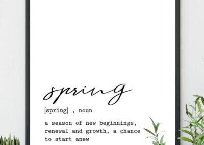 Fresh Minimal Spring Wall Art Printables 5