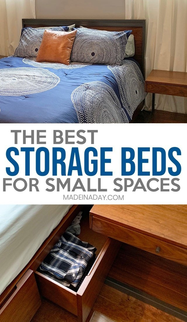 The Best Storage Beds for Small Space Living, three drawer storage beds, two drawer storage beds, Under bed storage, Bedroom storage beds, storage cabinet beds, platform storage bed, modern storage beds, #bedroom #storage #storagebed #smallspace #smallspaceliving #bed #platformstoragebed