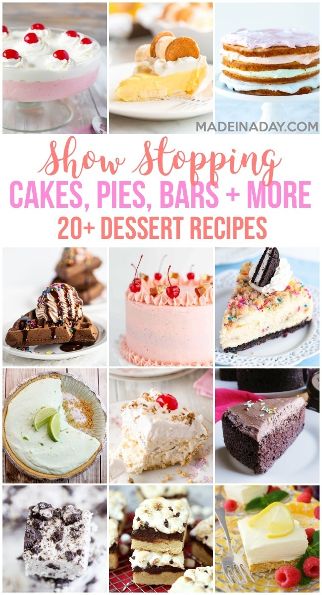 12 show stopping dessert recipes,