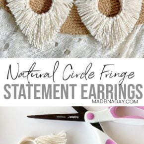 Effortless DIY Statement Circle Fringe Earrings 1