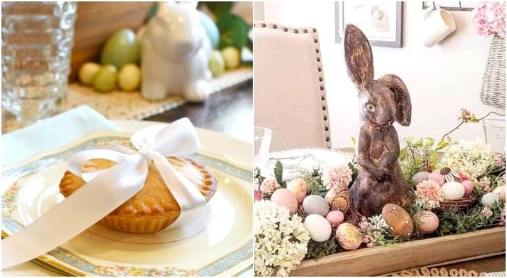 Bunny egg tablescape