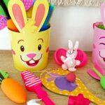 Charming Boho Style Woodland Easter Basket 1