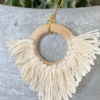DIY Statement Circle Fringe Earrings