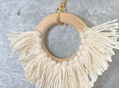 Effortless DIY Statement Circle Fringe Earrings