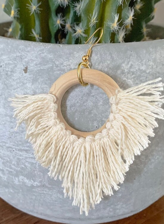 Effortless DIY Statement Circle Fringe Earrings 38