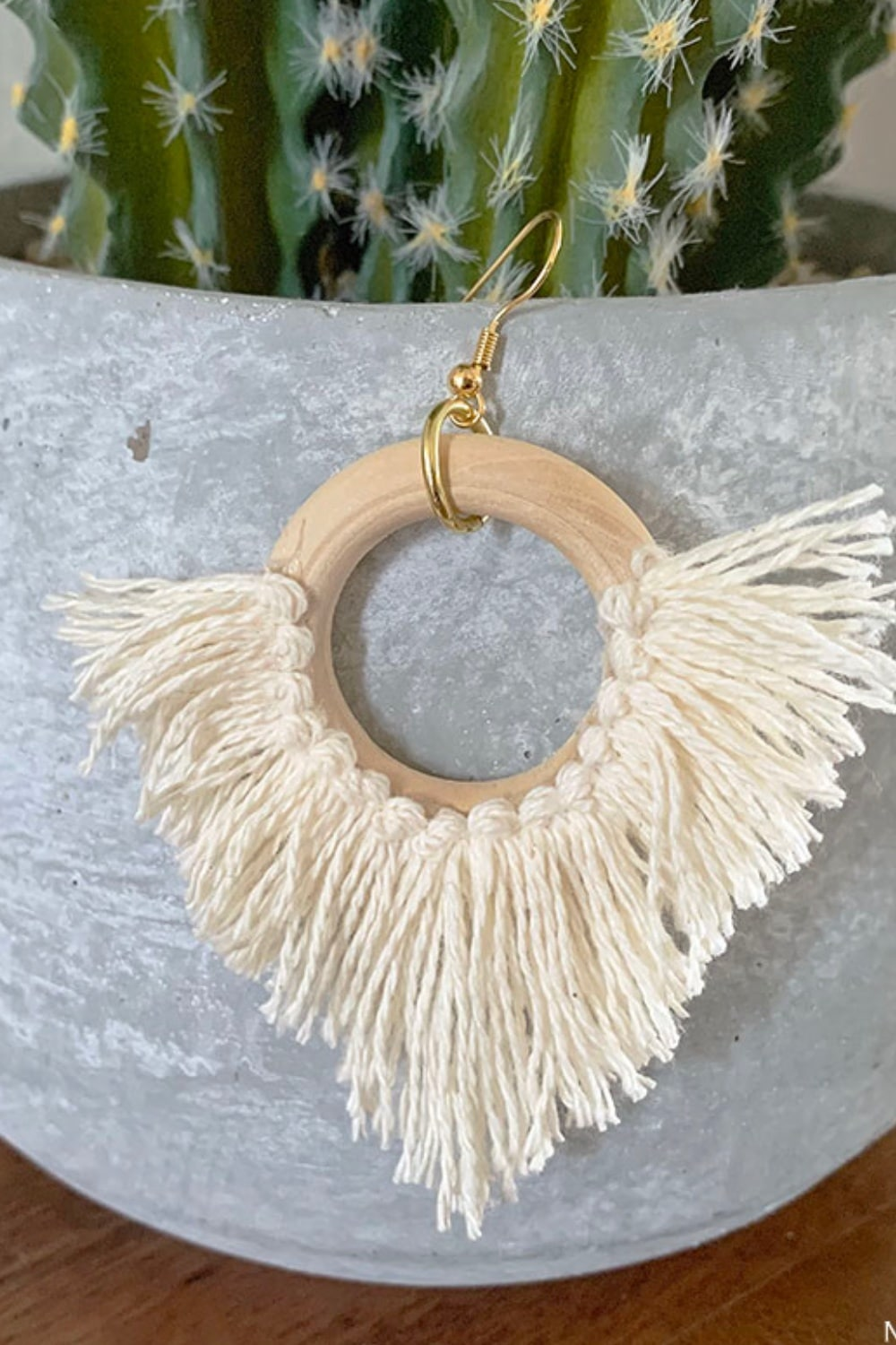Effortless DIY Statement Circle Fringe Earrings