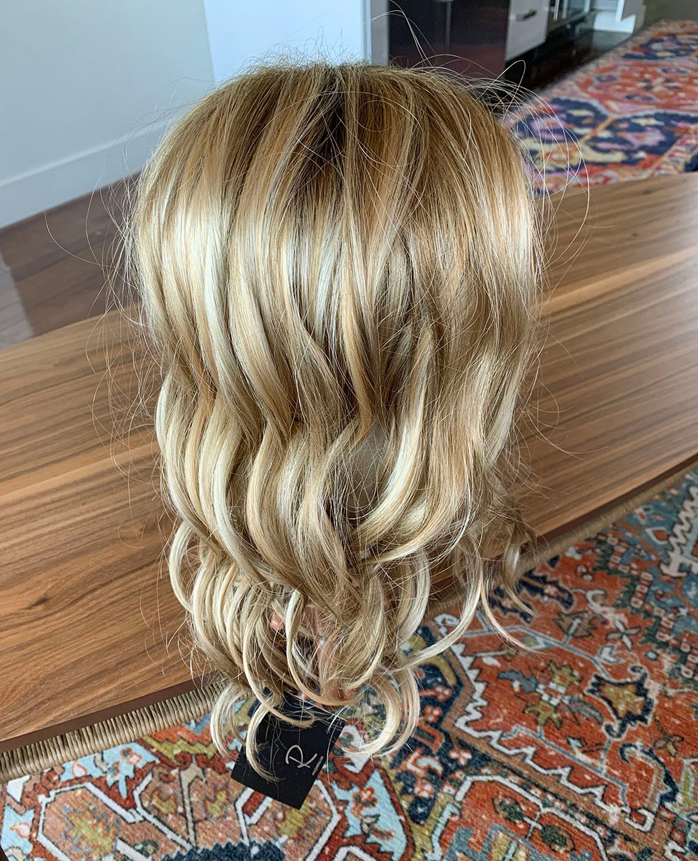 Malibu Blonde Color #12FS12 Jon Renau Top Wave Hair topper review, Blonde colored hair piece