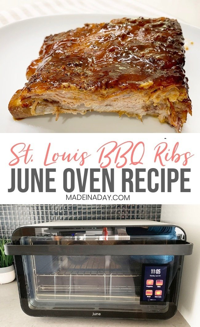 St. Louis Beef Ribs June Oven Recipe, June oven recipe, bbq, bbq ribs, roasted ribs, St. Louis ribs, rack of ribs, oven baked ribs, oven roasted ribs, #ribs #BBQ #Juneoven #recipe #bbqrecipe #comfortfood #barbecue #beef ribs #pork #beef