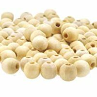 Natural Wood Spacer Beads (6mm)