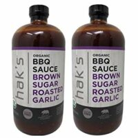 Hak's Organic Brown Sugar Roasted Garlic BBQ Sauce 40 oz (Pack of 2)