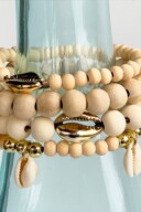DIY Cowrie Shell Stack Bracelets 15