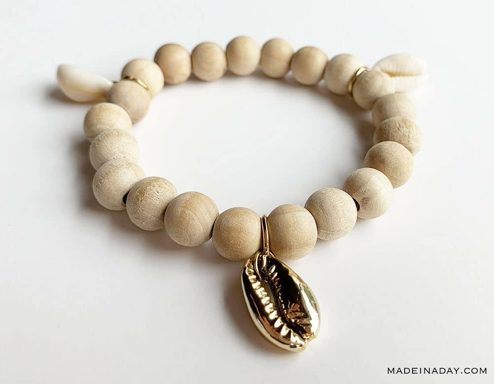 3 charm beaded bracelet