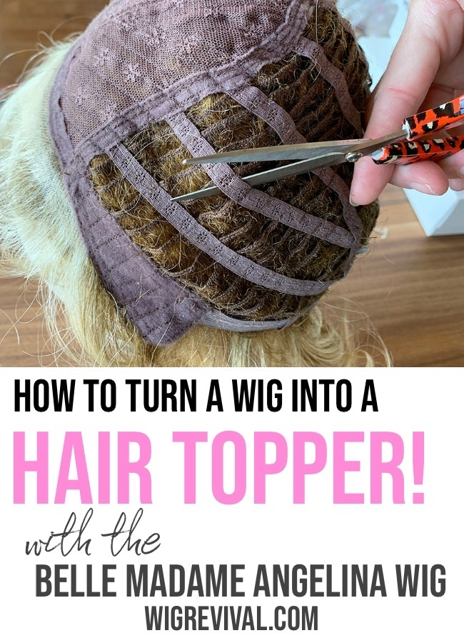How To Turn a Lace Front Wig into a Hair Topper 2