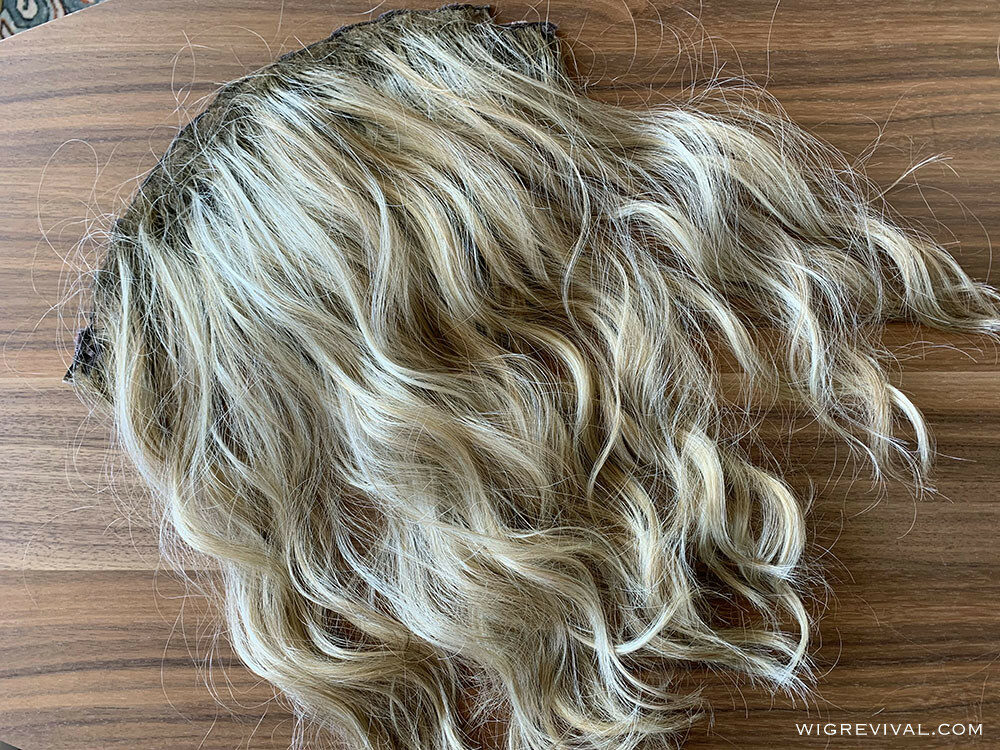How To Turn a Lace Front Wig into a Hair Topper 3