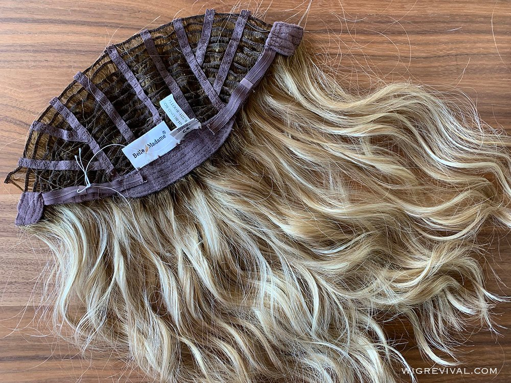 Hair wefts cut from wig, hair extensions from a wig, beach wave hair extensions from a wig,