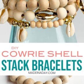 DIY Cowrie Shell Stack Bracelets 6