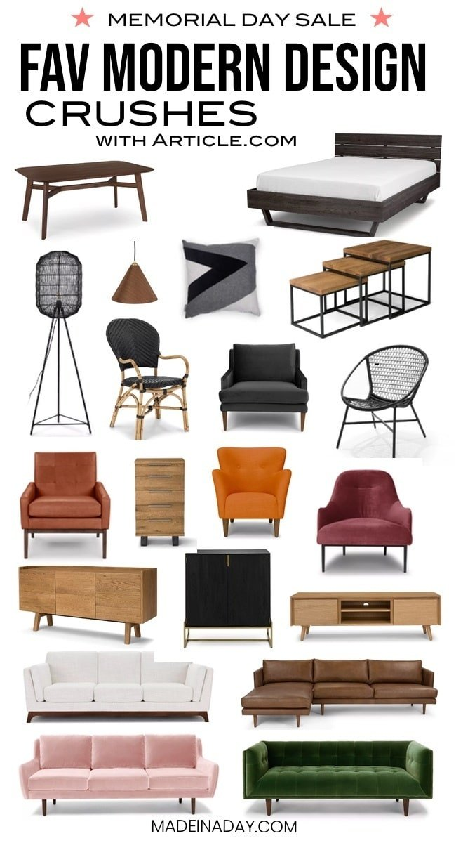 Mid century modern furniture roundup
