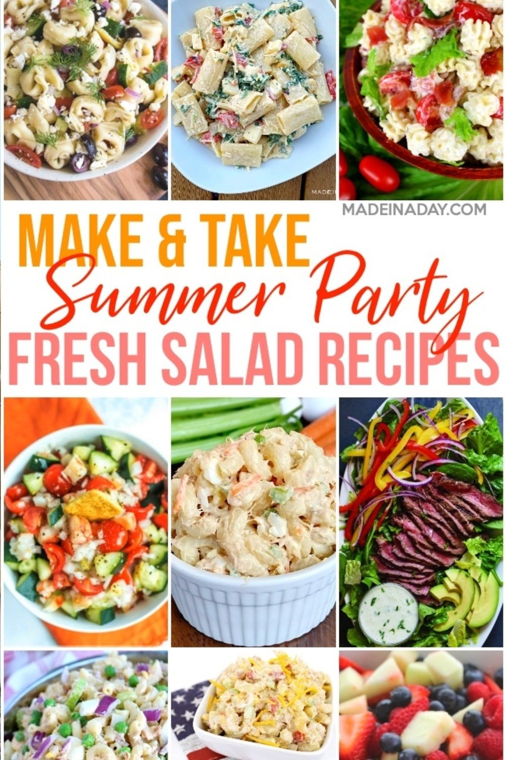 Summer Gathering Side Dish Salad Recipes