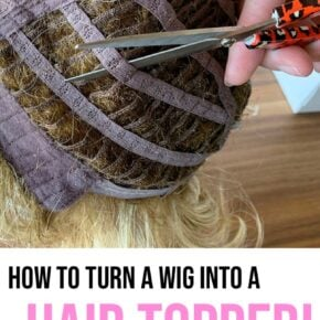 How To Turn a Lace Front Wig into a Hair Topper 31