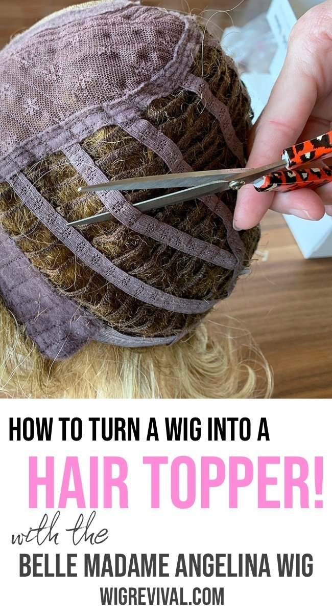 Cut down a wig into a hair topper, cut down a wig,