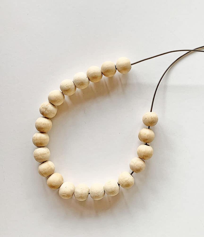 string of wood beads
